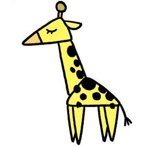 イラストじゅく キリンの描き方 三角を使って 意外とカンタン 小学一年生