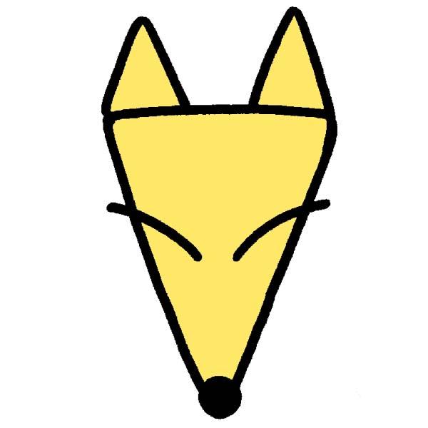 イラストじゅくキツネの描き方三角3つですぐに描ける 小学