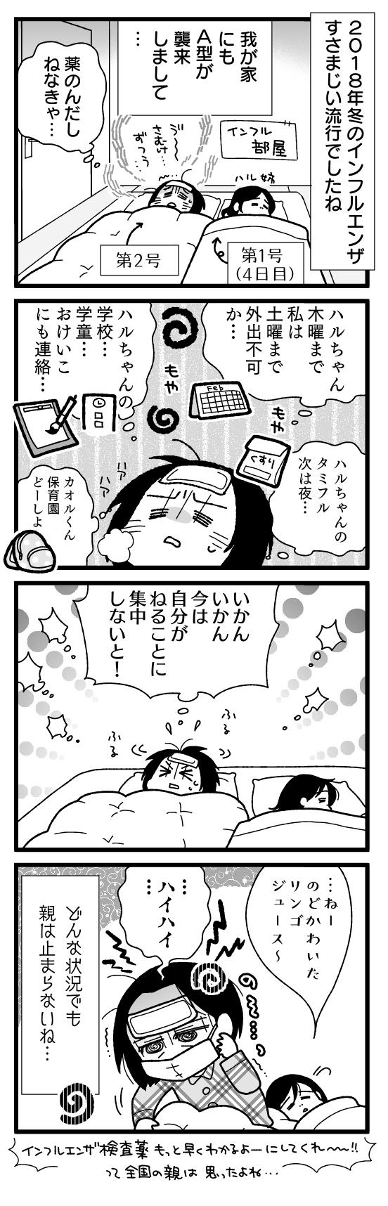 漫画『怒涛のにゅーじヨージ』Vol.194「インフルエンザのバカヤロー!①」 1コマ目
