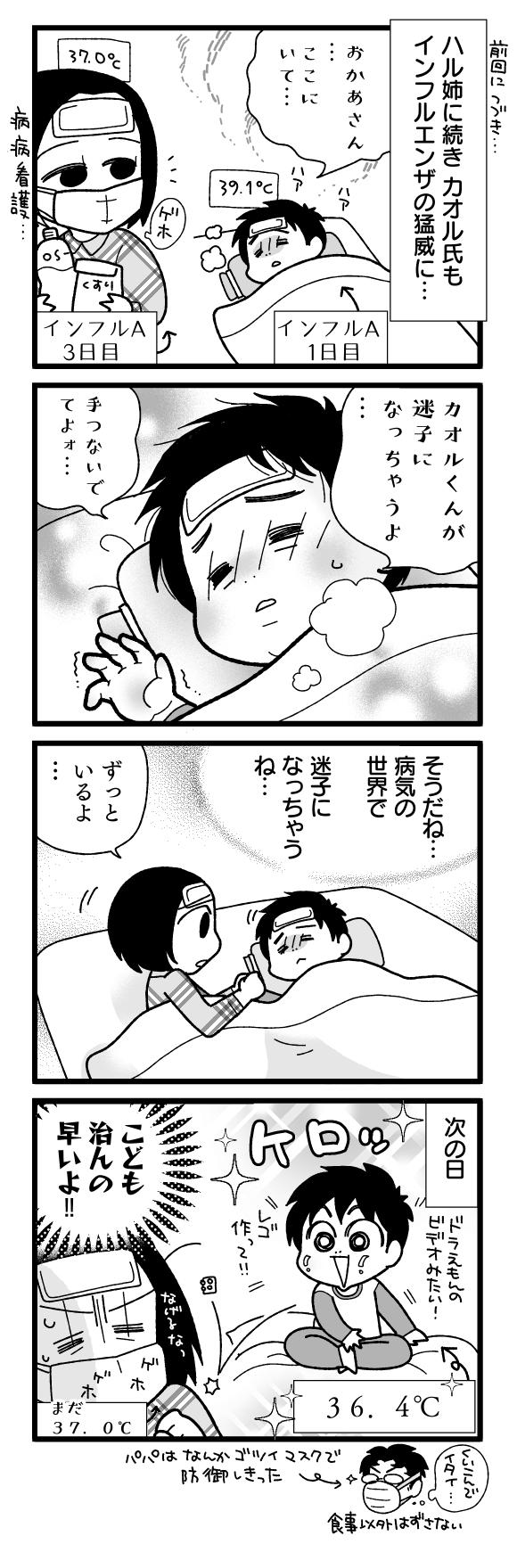 漫画『怒涛のにゅーじヨージ』Vol.195「インフルエンザのバカヤロー!②」 1コマ目