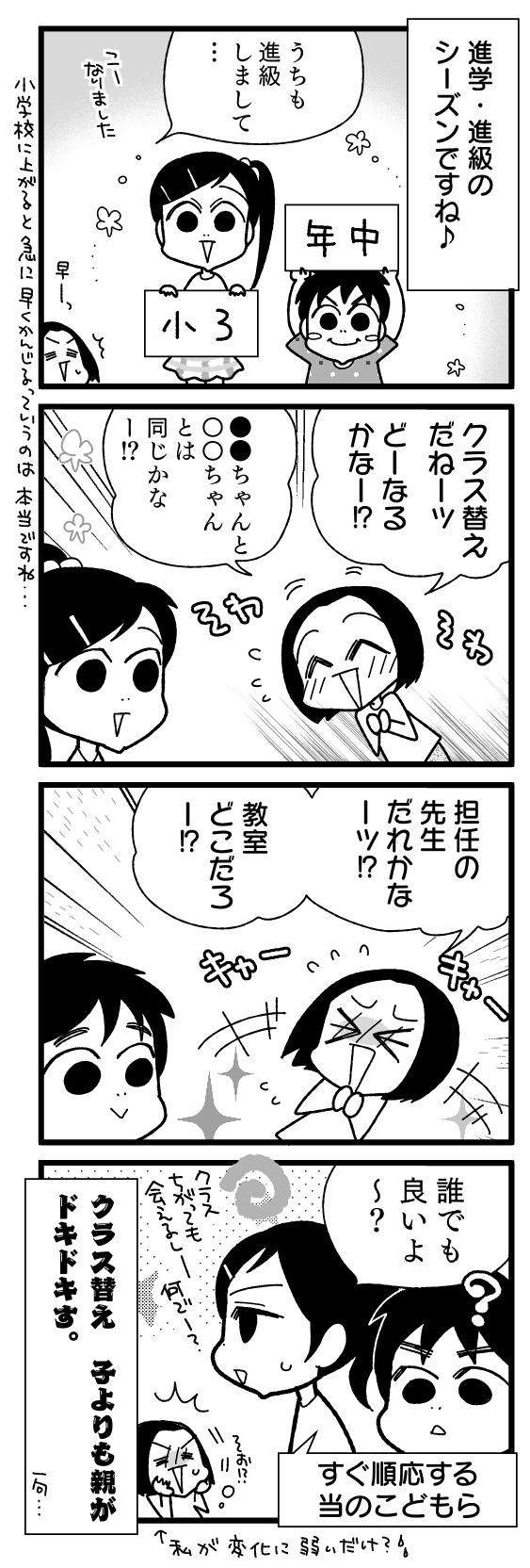 漫画『怒涛のにゅーじヨージ』Vol.199「4月ってそわそわ」 1コマ目