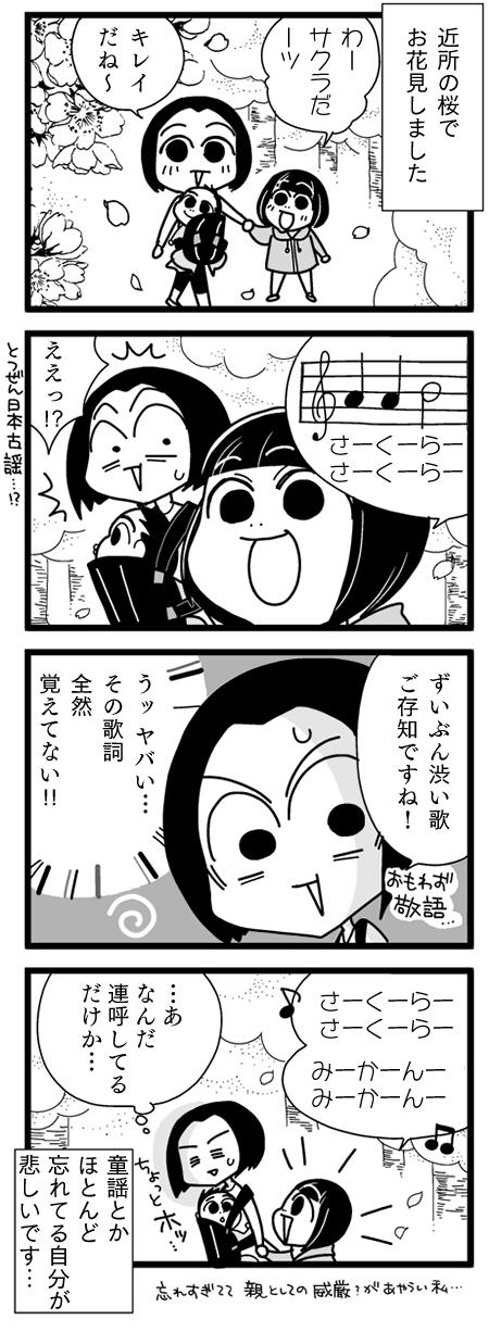 漫画『怒涛のにゅーじヨージ』Vol.2「お花見であせった…!」 1コマ目