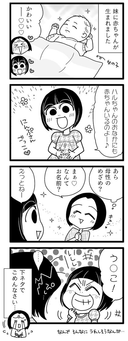 漫画『怒涛のにゅーじヨージ』Vol.23「テレかくし…?」 1コマ目