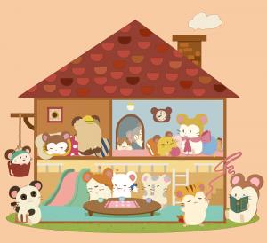 パシー さん「ハムちゃんずのハウス」|ハム太郎