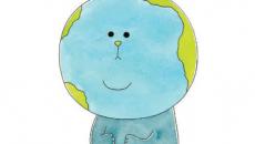 糸井重里×キューライスの新作絵本「ちきゅうちゃん。」『小学一年生』に登場
