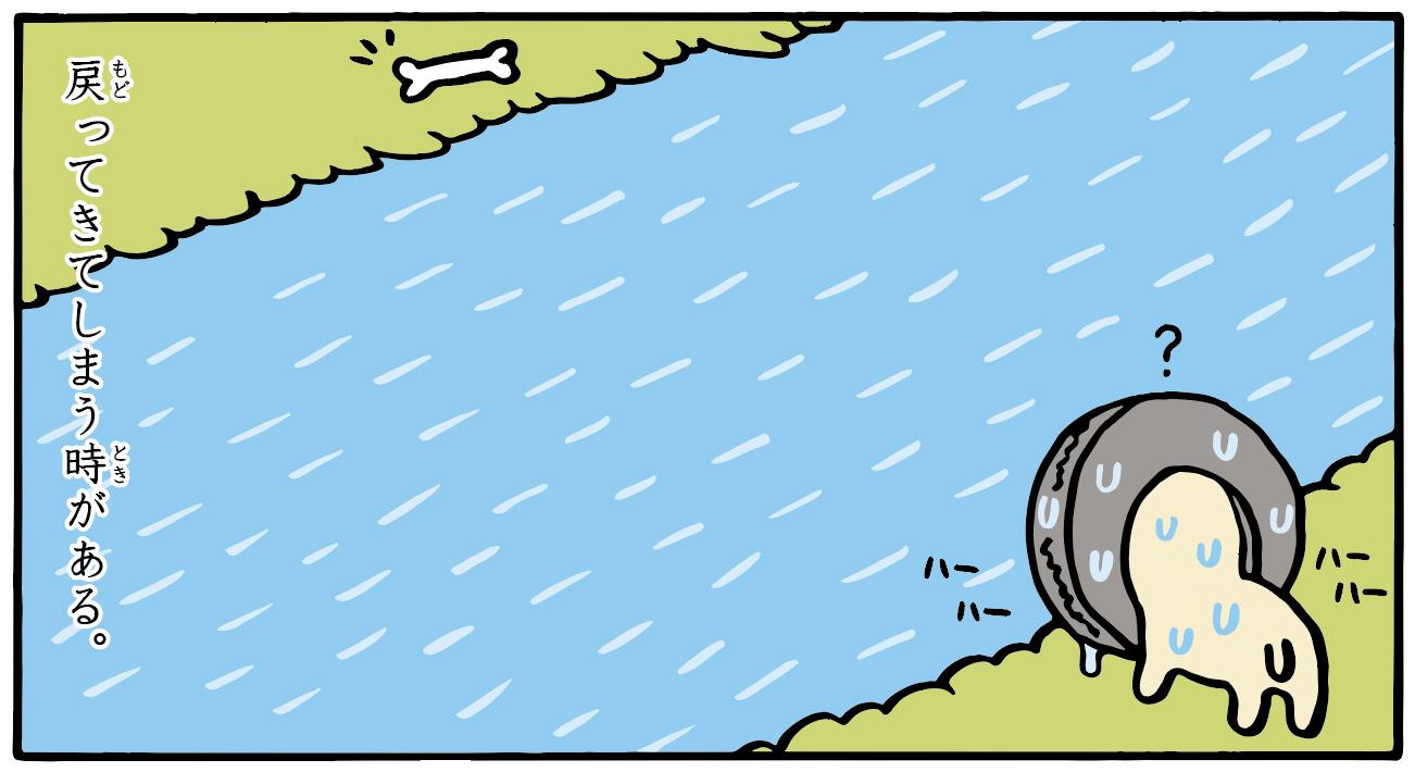 トホホな犬 「犬かき」 8コマ目