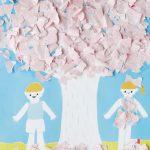 枯れ木に花を咲かせましょう!ちぎってふりかける立体アート「ぺぱぷんたす」