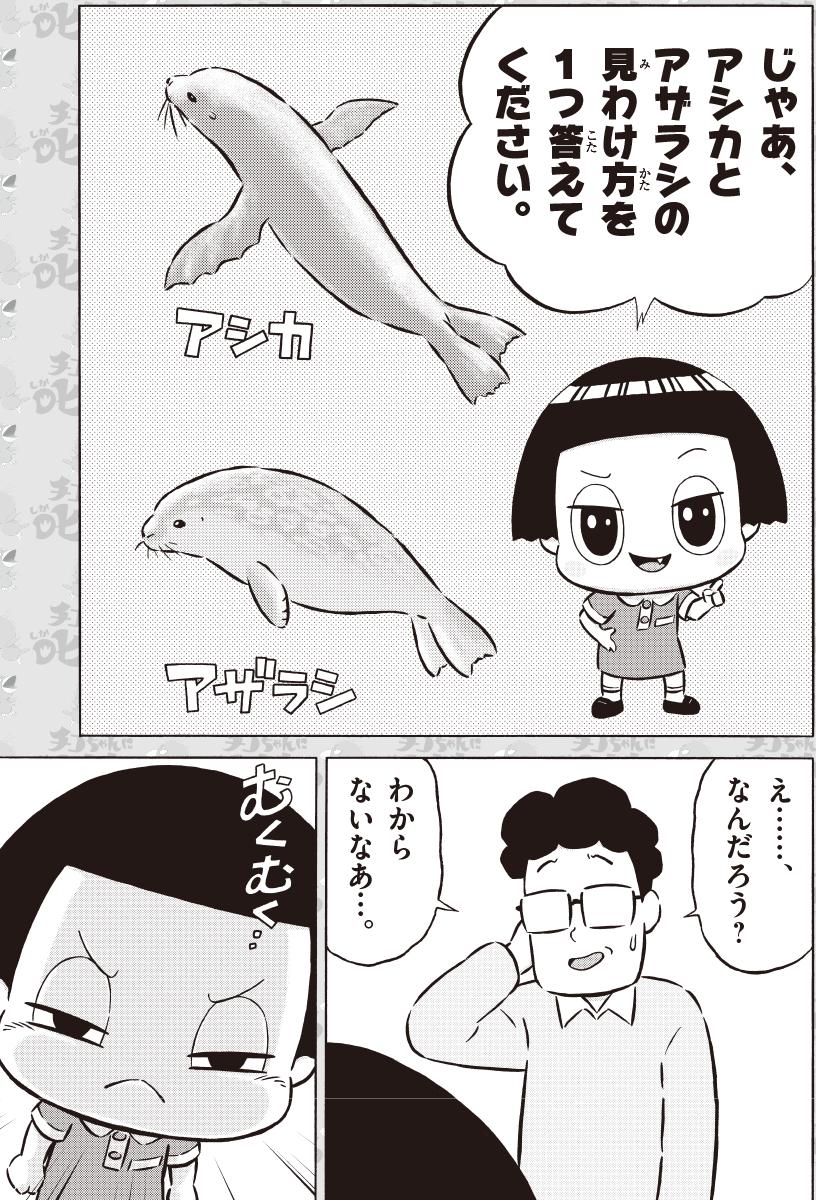まんが『チコちゃんに叱られる!』 水族館で叱られる! 5コマ目