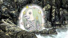 【妖怪ぬり絵】アマビエ(カラー)