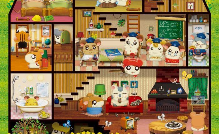 「2020 TOTTOKO HAMUTARO」カレンダー、4月もキャラクター探し遊び!